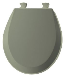 Bemis B500EC095 Round Closed Front Molded Wood Toilet Seat with Easy Clean & Change Hinge in Bayberry   Toilet Seats