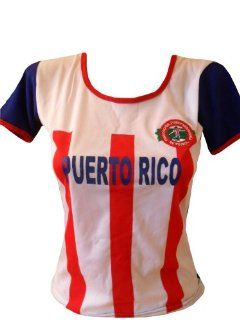 WOMEN PUERTO RICO SOCCER JERSEY FUTBOL .NEW : Sports Fan Jerseys : Sports & Outdoors