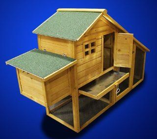 New Wooden Chicken Coop Nesting Box Hen House Chick Pen Run Rabbit Hutch HJ010 : Small Animal Houses : Pet Supplies