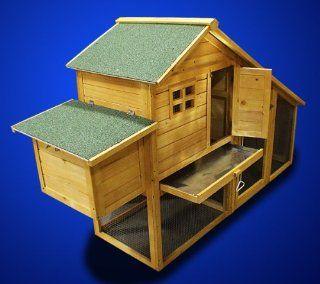 New Wooden Chicken Coop Nesting Box Hen House Chick Pen Run Rabbit Hutch HJ010 : Small Animal Houses : Pet Supplies