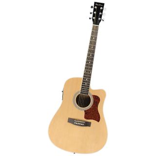 Spectrum Black & Spruce Cutaway Acoustic/Electric Guitar with 4 Band EQ   Kids Musical Instruments