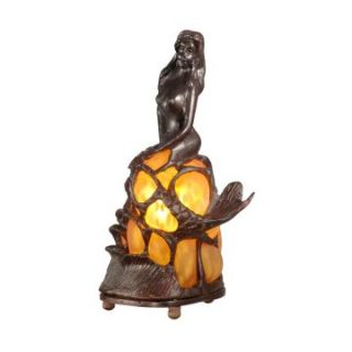 Dale Tiffany Amber Mermaid Accent Lamp   Table Lamps