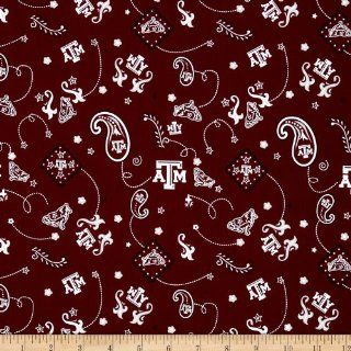 Collegiate Cotton Broadcloth Texas A&M University Fabric