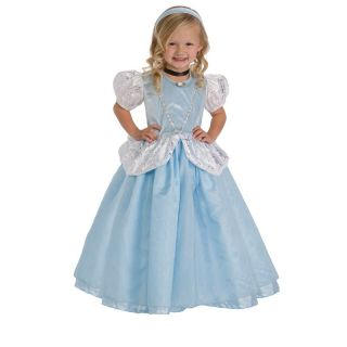 Little Adventures Deluxe Cinderella Costume with Optional Slip   Pretend Play & Dress Up