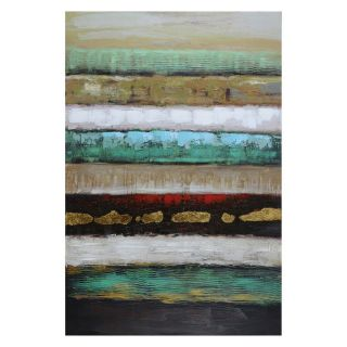 Yosemite Home Decor Layers I Wall Art   31.5W x 47.5H in.   Hand Painted Art