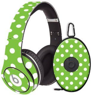 White Polka Dot on Lime Decal Skin for Beats Studio Headphones & Carrying Case by Dr. Dre: Electronics