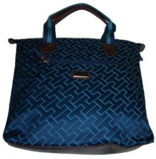 Tommy Hilfiger Women's Tote Handbag, Large Logo, Size Large, Navy/Blue Shoes