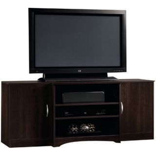Sauder Beginnings Entertainment Credenza   Cinnamon Cherry   TV Stands