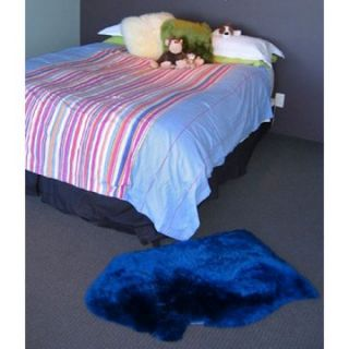 Bowron Kidz Crackalackin Lambskin Rug   The Bomb Blue   Area Rugs
