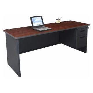 Marvel Pronto Single Pedestal Credenza   72W x 24D   Desks