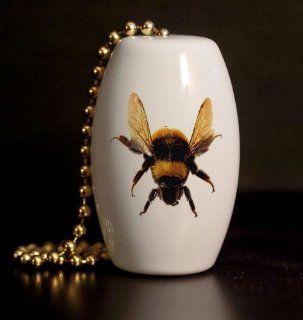 Bumble Bee Porcelain Fan / Light Pull   Ceiling Fan Pull Chain Ornaments