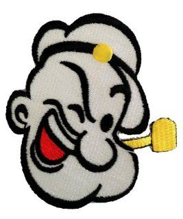 Popeye The Sailor Man Comic Cartoon Patch '' 8, 0 x 7, 0 cm'' Iron on Sew Applique Embroidered patches