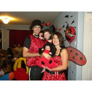 Women's Lady Bug Costume, Black/Red, One Size Adult Sized Costumes Clothing