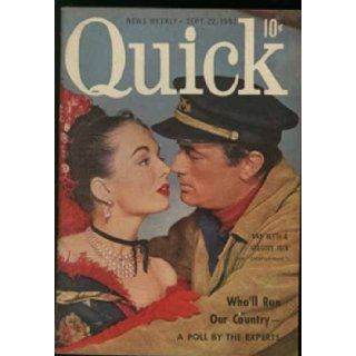 Quick Magazine (September 22, 1952) Ann Blyth & Gregory Peck cover (Volume 7, No. 12) Sugar Ray Robinson Books