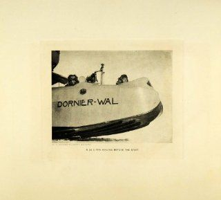 1929 Photogravure Dornier Wal Arctic Expedition Amundsen Ellsworth Crew Aviation   Original Photogravure   Prints