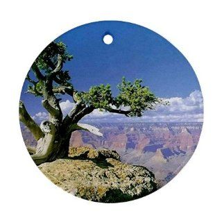 Grand Canyon Scenic Nature Photo Ornament round porcelain Christmas Great Gift Idea  Decorative Hanging Ornaments
