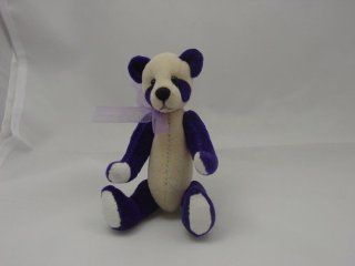 "World of Miniature Bears 4"" Plush Panda Bear #872 Egg Plant Collectible Miniature Bear Made by Hand Toys & Games"