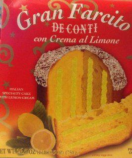 Valentino Gran Farcito Panettone with Lemon Cream (De Conti Con Crema Al Limone) 26.5 Oz. (750g)  Grocery & Gourmet Food