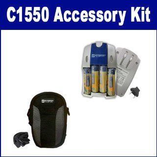 Kodak C1550 EASYSHARE Digital Camera Accessory Kit includes SB257 Charger, SDC 22 Case  Camera & Photo