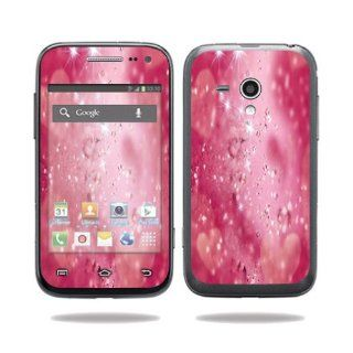 MightySkins Protective Vinyl Skin Decal Cover for Samsung Galaxy Rush Cell Phone M830 Boost Mobile Sticker Skins Pink Diamonds: Computers & Accessories
