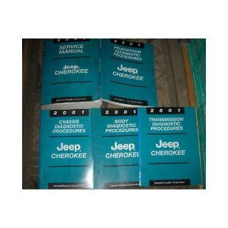 2001 Jeep Cherokee Service Repair Shop Manual Set OEM (service manual, and the chassis/body/power train/transmission diagnostics procedures manuals.) chrysler Books