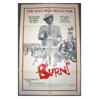 BURN / ORIGINAL U.S. 1 SHEET MOVIE POSTER ( MARLON BRANDO ) MARLON BRANDO Entertainment Collectibles