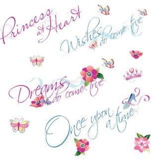 Roommates Rmk1521Scs Disney Princess Quotes Peel & Stick Wall Decals: Home Improvement