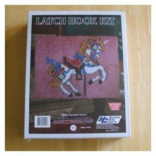R886 Carousel Unicorn Latch Hook Kit 20 in. X 27 in.