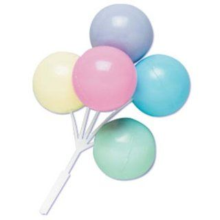 Dress My Cupcake DMC41B 901PSLSET Balloon Bouque Pick Decorative Cake Topper, Baby Shower, Assorted Pastel, Case of 36 Kitchen & Dining
