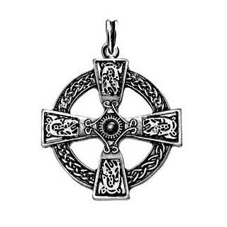 Silver Gaelic Celtic Cross Irish Endless Knot Pendant Nordic Pagan 925 St Sterling Silver Plated Celtic Symbol 40 x 40 MM 925 Sterling Silver Two Sided Design: Everything Else