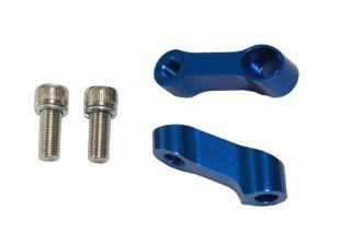 10mm CNC Motorcycle Mirror Riser Extender   Blue   Right Hand Bolt and Mirror Mount Honda CBR 600 900 929 954 1000 RR, Kawasaki Ninja ZXR, Suzuki GSXR 600 750 1000 Bandit SV650, Yamaha R6 R1   Pair: Automotive