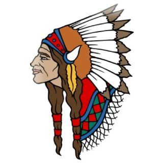 Tin Sign poster metal plaque Painting Tattoo Indian chief headdress   Prints