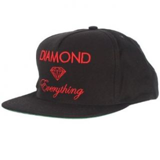 Diamond Supply Co.   Diamond Everything Snapback Hat in Black/Black, Size: O/S, Color: Black/Black at  Men�s Clothing store