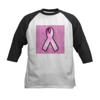 Artsmith, Inc. Kids Baseball Jersey Breast Cancer Pink Ribbon: Clothing