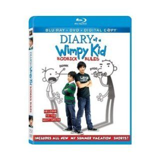 Diary of a Wimpy Kid Rodrick Rules (Three disc Blu ray/dvd Combo + Digital Copy) (2011) ACTOR ZACHARY GORDON Books