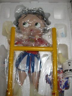 """Betty Boop Porcelain Doll """"Cheerleader"""" from The Danbury Mint Betty Boop Porcelain Doll Collection by Syd Hap   Collectible Figurines"""
