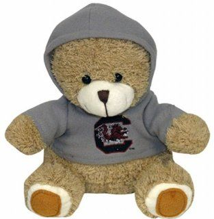 NCAA South Carolina Fighting Gamecocks Plush Bear with Logo Hoodie, Team Color  Sports Fan Toy Figures  Sports & Outdoors