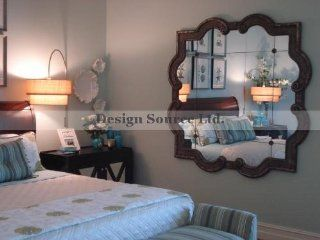 Extra Large Silver Quatrefoil Square Wall Mirror Floor Leaner Oversize   Wall Mounted Mirrors