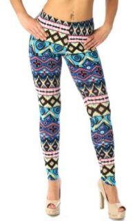 Fashion Chic pant Abstract pattern print leggings large PCS974 at  Women�s Clothing store