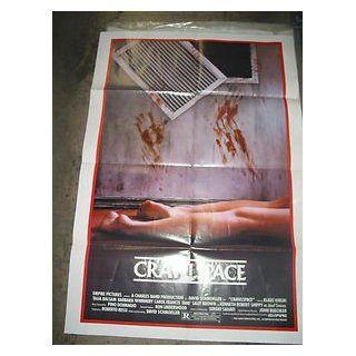 CRAWLSPACE / ORIGINAL U.S. ONE SHEET MOVIE POSTER (KLAUS KINSKI) KLAUS KINSKI Entertainment Collectibles