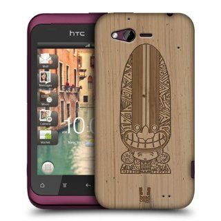 Head Case Designs Surfboard Tiki Wood Carvings Hard Back Case Cover For HTC Rhyme: Cell Phones & Accessories