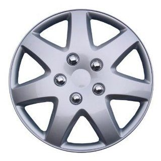 "SET of 4 Hubcaps Wheel Covers KT962 16S/L 16"" Silver Finish: Automotive"