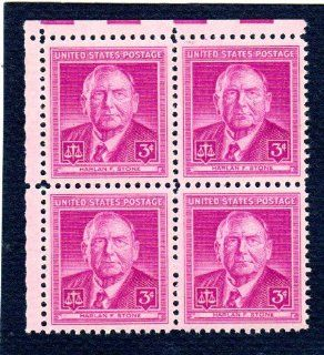 Postage Stamps United States. Block of Four 3 Cents Bright Red Violet, Chief Justice Harlan Fiske Stone, Stamps Dated 1948, Scott #965.: Everything Else