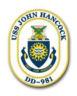 "US Navy Ship USS John Hancock DD 981 Decal Sticker 3.8"" Automotive"