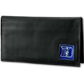 NCAA Duke Blue Devils Deluxe Leather Checkbook Cover  Sports Fan Wallets  Sports & Outdoors