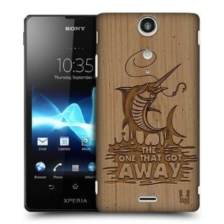 Head Case Designs Marlin Wood Carvings Hard Back Case Cover For Sony Xperia TX LT29i: Cell Phones & Accessories
