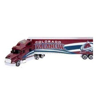 Colorado Avalanche 2008 09 Peterbilt Diecast Semi Tractor trailer Truck 1/80 Scale By Upperdeck: Toys & Games