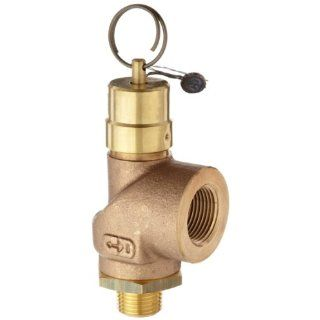 "Control Devices SCB Series Brass ASME Safety Valve, 150 psi Set Pressure, 3/4"" Female NPT x 1/2"" Male NPT Industrial Relief Valves Industrial & Scientific"