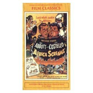 Africa Screams [VHS]: Bud Abbott, Lou Costello, Clyde Beatty, Frank Buck, Max Baer, Buddy Baer, Hillary Brooke, Shemp Howard, Joe Besser, Burt Wenland, Charles Gemora, Arthur Hecht, Charles Barton, David S. Garber, Donald Crisp, Edward Nassour, Huntington
