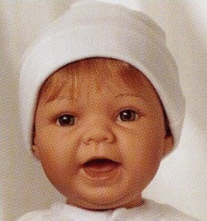 Lee Middleton Newborn Nusery Sweet Baby Strawberry Blonde Hair/Green Eyes #994: Toys & Games